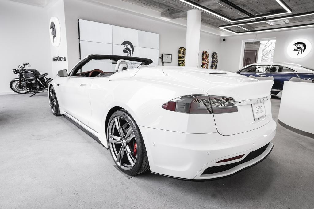 Tesla Model S được độ thành xe mui trần kinhtetrithuc.vn 4