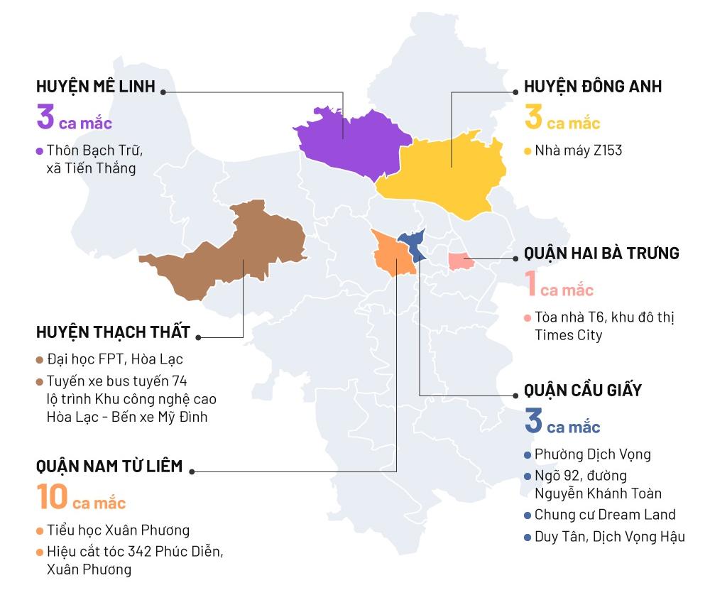 20 ca mắc Covid-19 ở Hà Nội lây nhiễm như thế nào? kinhtetrithuc.vn