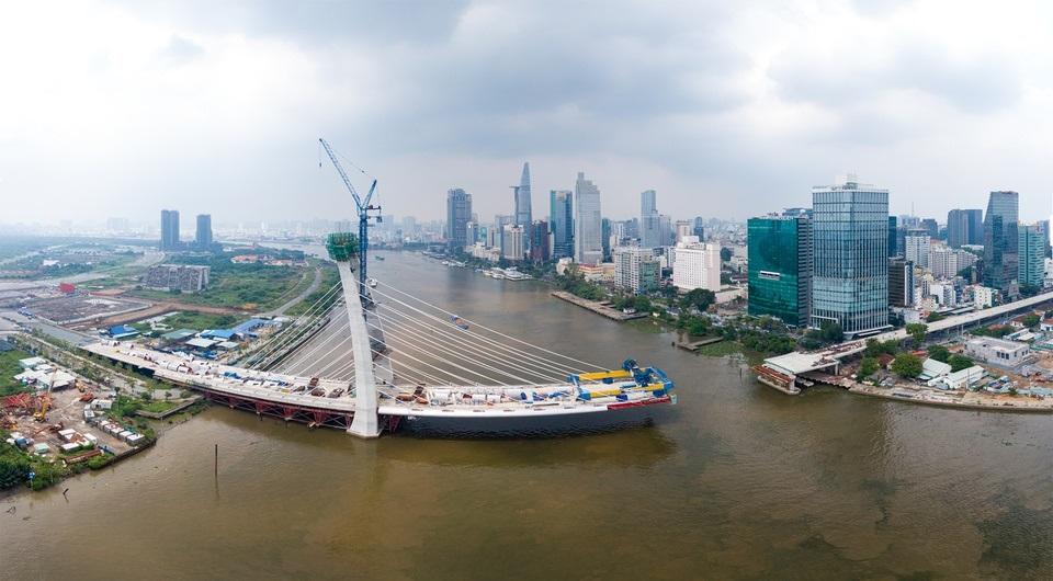 Cầu Thủ Thiêm 2 vẫn chưa thi công trở lại, đối mặt nhiều rủi ro kinhtetrithuc.vn