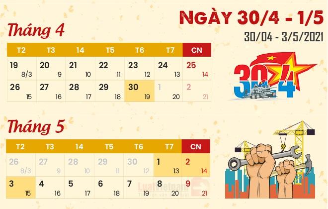 Lịch nghỉ lễ Giỗ Tổ Hùng Vương, 30/4 và 1/5 và chế độ tiền lương làm thêm giờ của người lao động kinhtetrithuc.vn 2