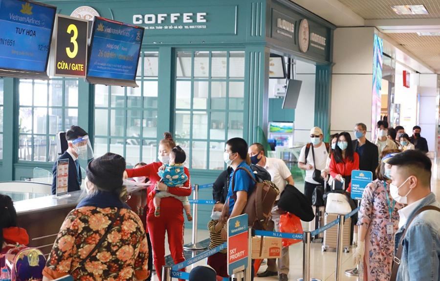 Nhu cầu du lịch đi lại bằng đường hàng không đang tăng rất mạnh do dịch được kiểm soát tốt